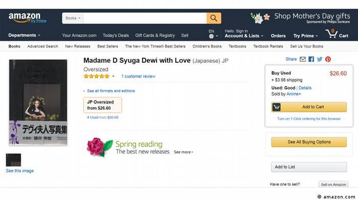 Screenshot Amazon Madame D Syuga Dewi Love (amazon.com)