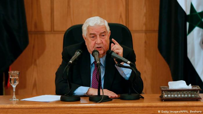Syrien Damaskus Außenminister Walid al-Mualim (Getty Images/AFP/L. Beshara)