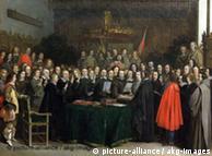 Firma de la Paz de Westfalia en Münster.