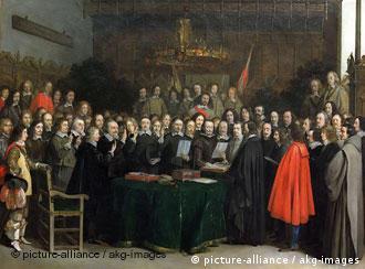 Вестфальский мир 1648 года (церемония подписания в Мюнстере)