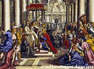 Coronación de Carlomagno en Aquisgrán.