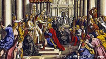 Deutschland Geschichte Krönung von Karl des Großen in Aachen
