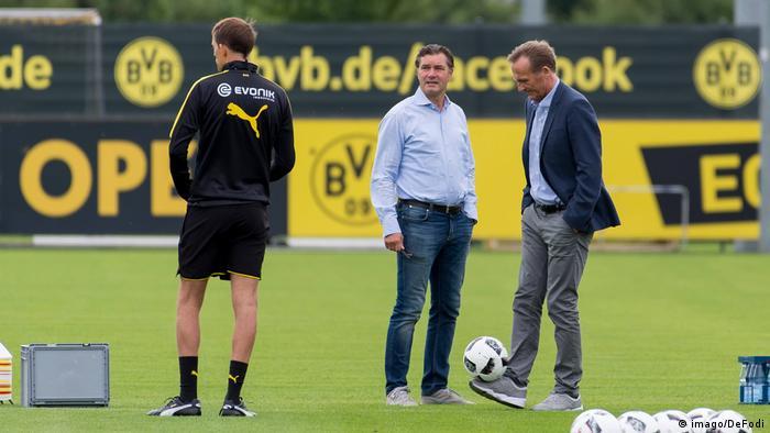 Fußball borrussia Dortmund Tuchel Zorc und Watzke