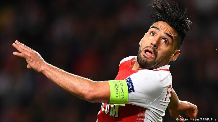 Monacos kolumbianischer vorwärts Radamel Falcao (Getty Images/AFP/F. Fife)