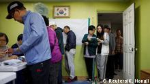 Südkorea Wahlen Wähler