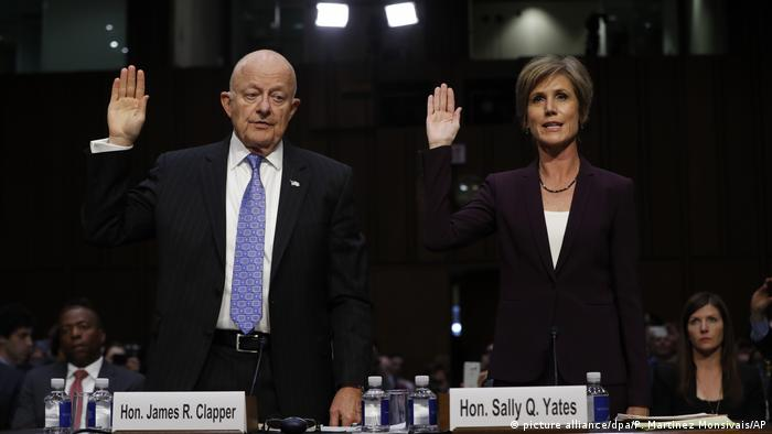 Anhörung Senatsausschuss Sally Yates und James Clapper (picture alliance/dpa/P. Martinez Monsivais/AP)