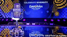Mikrophon aus Kristall - Haupttrophäe des Eurovision Song Contest. Die Fotos dürfen auf der DW-Seiten Veröffentlicht werden. Copyright EBU/Thomas Hanses