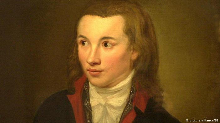 Ein Gemälde zeigt den frühromantischen Autor und Philosophen Novalis