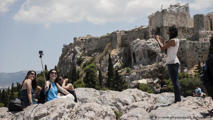 Griechenland Touristen Selfies