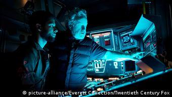 Ridley Scott on the set of Alien: Covenant