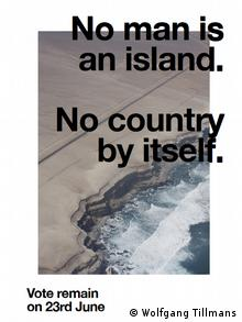 Poster Anti-Brexit Campaign Wolfgang Tillmans | No man is an Island (Wolfgang Tillmans)