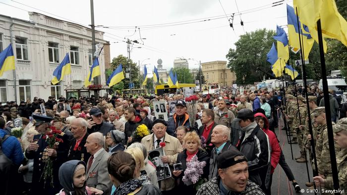 Ukraine Siegestag Demo in Kiew