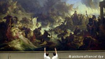 Gemälde Seeschlacht von Salamis Wilhelm von Kaulbach