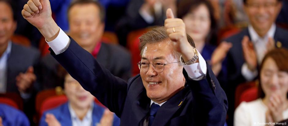 Moon Jae-in deve adotar um tom mais conciliador e diplomático com a Coreia do Norte
