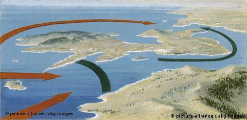 Griechenland Antike Schlacht von Salamis