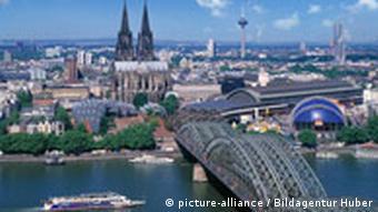 Rhein Dom mit Hohenzollernbrücke, Köln, Nordrhein-Westfalen, Deutschland