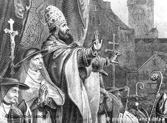 Папа Римский Урбан II на церковном соборе в Клермоне 27 ноября 1095 года призывает к крестовому походу