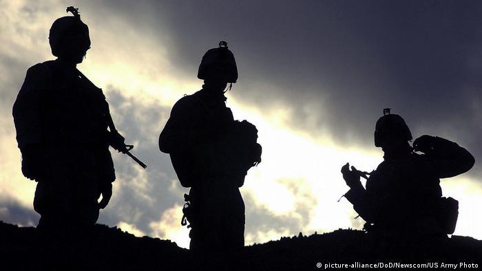 Soldados dos EUA no Afeganistão.