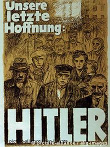 Deutschland Weimarer Republiken Wahlen Plakat NSDAP Wahlplakat 1930 - 32