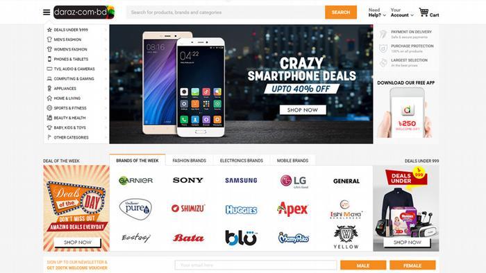Bangladesch   Shopping Websites   daraz