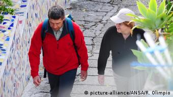 Angela Merkel şi soţul Joachim Sauer în vacanţă în Italia (Ischia) în 2012