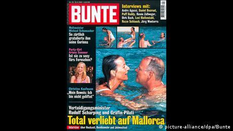 Der ehemalige Verteidigungsminister Rudolf Scharping auf dem Titelblatt der Illustrierten Bunte (picture-alliance/dpa/Bunte)