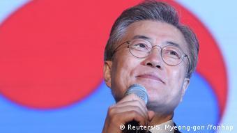 Südkorea Präsidentschaftswahl Gewinner Moon Jae-in (Reuters/S. Myeong-gon /Yonhap)