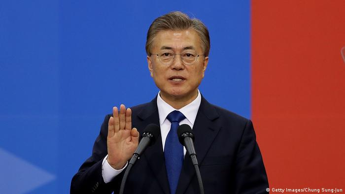 Südkorea Vereidigung Präsident Moon Jae-in (Getty Images/Chung Sung-Jun)