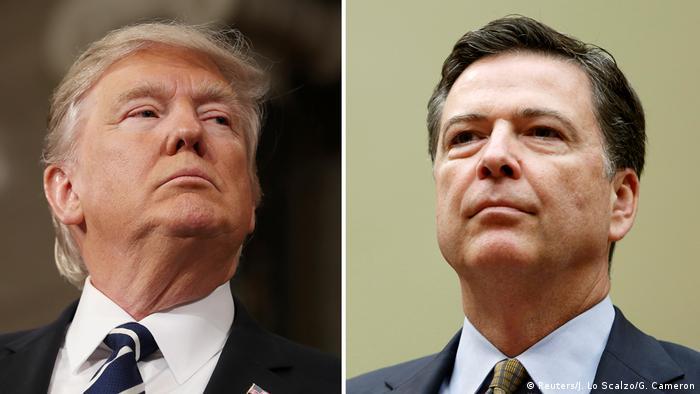 Bildkombo U.S. Präsident Donald Trump und FBI Direktor James Comey