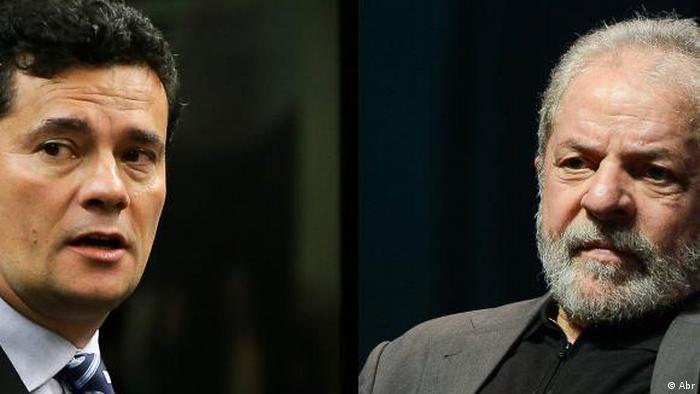 Richter Sergio Moro und Ex-Präsident Brasiliens Lula da Silva (Abr)