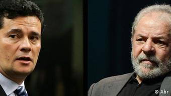 Judge Sergio Moro and ex-president of Brazil Luiz Inacio Lula da Silva