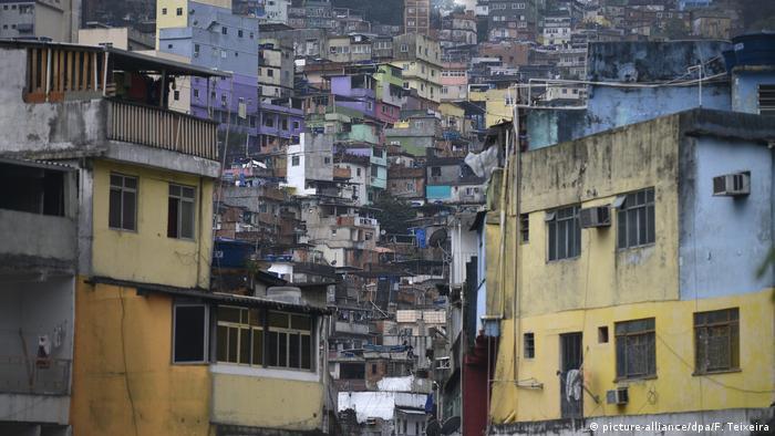 Фавела край Рио де Жанейро - това е гетото на бедните