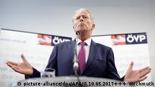 Österreich Vizekanzler Mitterlehner zurückgetreten