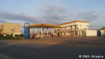 Photo of an petrol station with no cars