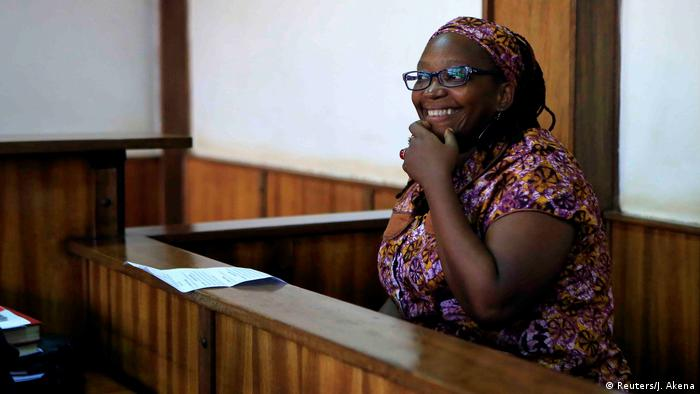 Stella Nyanzi in a courtroom (Reuters/J. Akena)