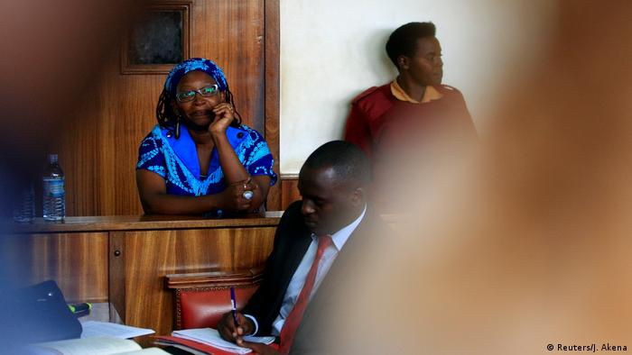 Uganda Prozess Stella Nyanzi, Aktivistin (Reuters/J. Akena)