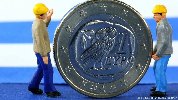 Greek euro with plastic figures