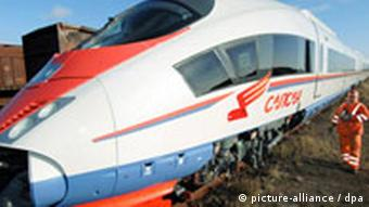 A high-speed train in Russia