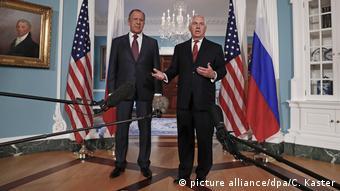 USA Rex Tillerson empfängt Sergej Lawrow