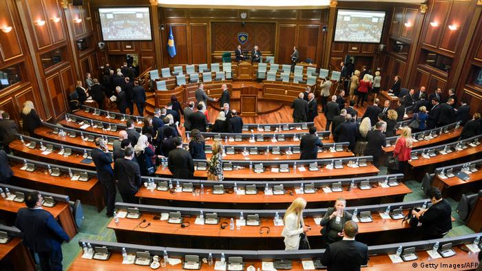 Kosovo Parlament Misstrauensvotum (Getty Images/AFP)