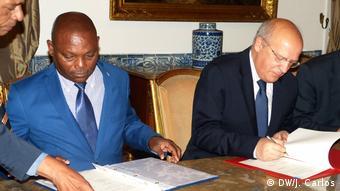 Sao Tome und Principe Marcelo Rebelo de Sousa und Evaristo de Carvalho