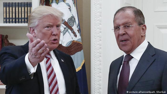 Trump y Lavrov.