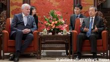China Horst Seehofer in Peking | mit Ma Kai