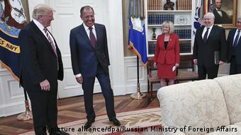 USA Trump trifft Lawrow (picture alliance/dpa/Russian Ministry of Foreign Affairs)