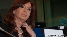 Cristina Fernández de Kirchner, ex Präsidentin Argentiniens in Brüssel, Konferenz, Brüssel, 10.05.2017, Bild Banchón