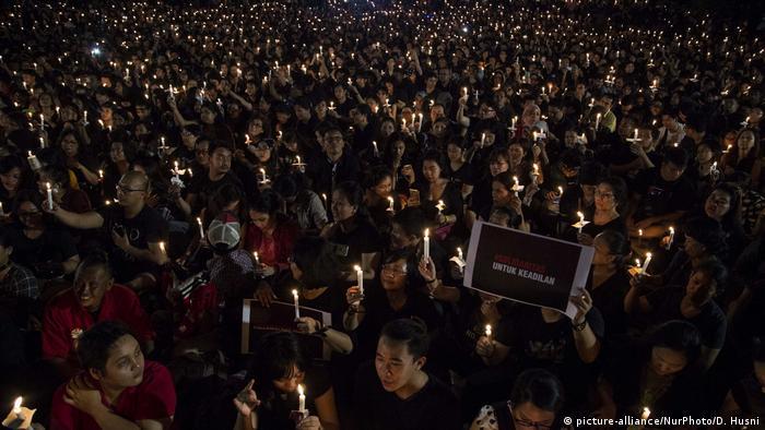 Indonesien Proteste in Jakarta (picture-alliance/NurPhoto/D. Husni)