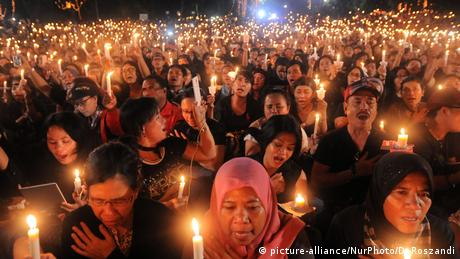 Indonesien Proteste in Jakarta (picture-alliance/NurPhoto/D. Roszandi)