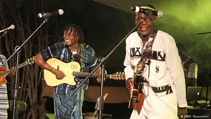 Malian music legend Habib Koite (left) joins forces with Zimbabwe's icon Oliver Mtukudzi for their successful project Acoustic Africa