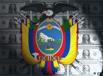 Ecuadorianisches Wappen und Geldscheine (Quelle: DW)