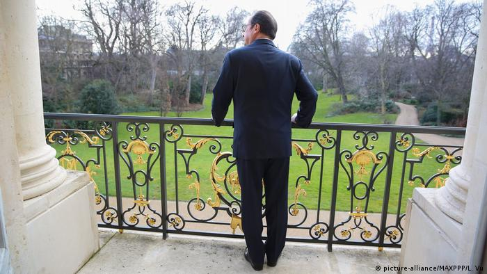 Elysee Palace, balcony (Foto: picture-alliance/MAXPPP/L. Vu)